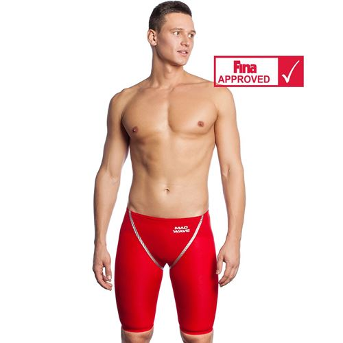 Picture of MADWAVE FASTSKIN FORCESHELL RACING JAMMER - RED